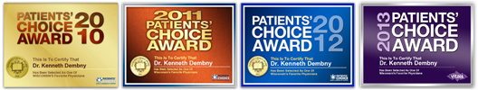 Dr Dembny patient choice award winner 2010 2011 2012 2013