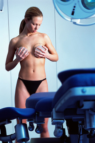 woman preparing for breast augmentation