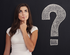 Woman with questions about breast augmentation